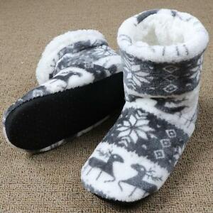 Unisex Winter Elk Indoor Sock Boot Slippers   Warm Fur Cotton Slippers