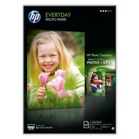 25 SHEETS x A4 GLOSSY PHOTO PAPER 200GSM WHITE PREMIUM HP EVERYDAY CHEAP INKJET