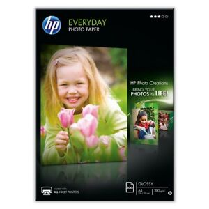 50 SHEETS x A4 GLOSSY PHOTO PAPER 200GSM WHITE PREMIUM HP EVERYDAY CHEAP INKJET