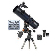 Celestron Astromaster 130EQ-MD Motor Drive Telescope Newtonian Reflector Tripod