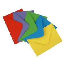 Pack 50 C6 Mixed Bright Coloured Envelopes for Card Making NEW