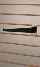 Metal Shelf Bracket 14 Inch in Black for Slatwall - Pack of 10