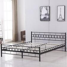 Full Slat Size Wood Bed Frame Platform Headboard Footboard Bedroom Furniture New