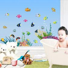 Ocean Sea Fish Wall Sticker Vinyl Removable Mural Kids Room Bathroom Wall Decor