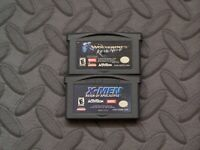 Lot Nintendo Game Boy Advance GBA Games X2:Wolverine + X-Men:Reign of Apocalypse