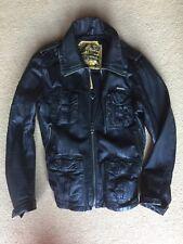 Superdry Men's Leather Jacket Medium