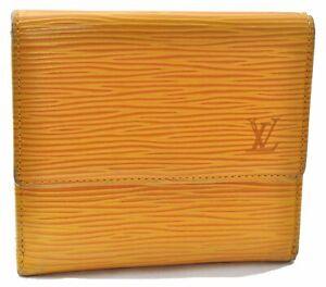 Louis Vuitton Epi Porte Monnaie Billets Cartes Credit Wallet M63489 Yellow E0320