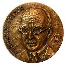 Literature Portuguese Writer Fernando Pessoa  /Bronze Medal by José de Moura M37