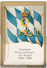 N°222 FLAG DRAPEAU BANNER ROI KING LOUIS II BAVIERE BAVARIA GERMANY IMAGE CHROMO
