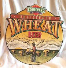 "Boulevard Brewing Co 24.5"" Unfiltered Wheat Beer Collectible Beer Metal Sign NEW"