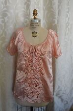 NEW Pink WILLI SMITH Polyester MEDIUM Cute Blouse SPRING TOP Women Woman