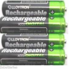 4 x Lloytron AA Rechargeable Batteries 800 mAh phone