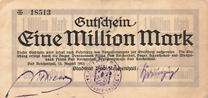 Germany (Reichenhall) 1 Million Mark 1923