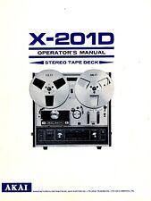 Akai  Bedienungsanleitung user manual für X-201D