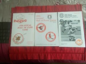 (3)COOPERSTOWN HALL OF FAME GAME PROGRAMS 1979/1983/1992