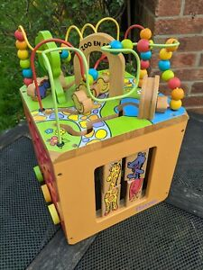 Busy Zoo Wooden Activity Cube – Toddler Activity Center Kids 1 Year+ will post