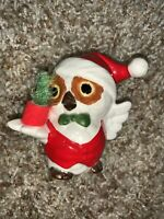 "VINTAGE CHRISTMAS OWL WITH SANTA HAT CERAMIC FIGURINE 3"" NAPCO?"