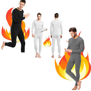 Thermal Underwear Men's Suit - Long Sleeve Thermals T Shirt & Long Johns for Men