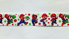 Mario Scene ribbon 22mm (1 meter ) for cakes, crafts & bows