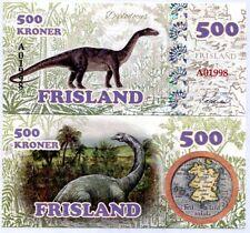 Frisland 500 Kroner Fancy 2016 Dinosaur Diplodocus Unc