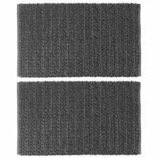 "mDesign Soft Cotton Spa Mat Rug for Bathroom, Braided, 34"" x 21"", 2 Pack - Gray"