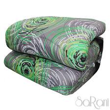 Winter Quilt Duvet Modern Double Pattern Abstract Green Circles Sarani