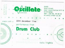 OSCILLATE Rave Flyer Flyers A6 10/12/94 Bonds Birmingham Drum Club