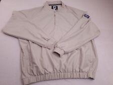 Footjoy Men's Beige Buttoned Pullover Windbreaker Golf Jacket Size Large