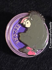 Disney Pin Winnie the Pooh Eeyore Purple Disk Series Round Circle Htf Free Ship