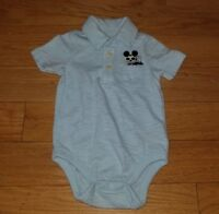 Boys Disney BABY GAP Blue MICKEY MOUSE Bodysuit/ / Shirt / Top Sz 3-6 Mos