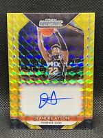 2018 Panini Mosaic Prizm Gold /10 DeAndre Ayton Rookie Auto Centered RC 🔥🔥🔥