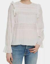 VELVET BY GRAHAM /& SPENCER Womens Metallic Stripe Peasant Top Shirt BHFO 3181