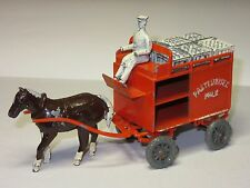 MATCHBOX MOKO EARLY LESNEY VERY RARE LARGE MILK FLOAT CART HORSE DRAWN