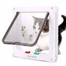 Cat Flap Door with 4 Way Lock Security Flap Door for Dog Cat Kitten Small Pet