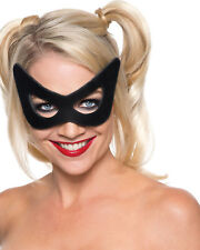 Morris Costume Women's New Batman Harley Quinn Face Mask Black One Size. RU32229