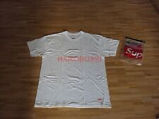 Original Supreme NYC Hanes Tagless TEE T-Shirt white Box Logo NAS Shirt Gr L NEU