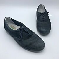 SAS Whisper Tripad Comfort Women Black Suede Lace Up Shoe Size 9.5W Pre Owned
