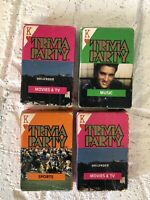 Vintage TRIVIA PARTY Playing Cards Lot Of 4 POKER Decks Movies Sports Music game