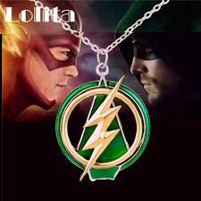 DC Comics The Flash & Green Arrow CrossOver Pendant Necklace Women Men FreeShipp