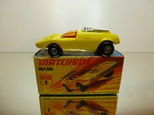 MATCHBOX LESNEY SUPERFAST 1 MOD ROD - YELLOW - VERY GOOD CONDITION IN BOX