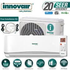 INNOVAIR 18000 BTU 20 SEER Inverter Ductless Mini Split AC System Cool Only 230V