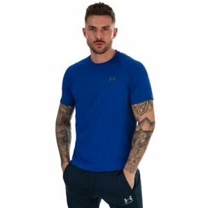 Men's Under Armour Seamless Wave Crew Neck Short Sleeve T-Shirt in Blue