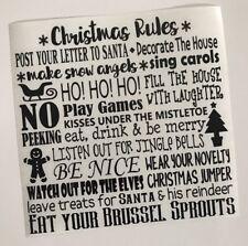 Reglas De Navidad Calcomanía Vinilo Sticker Ikea Caja Ribba Marco Regalo Hágalo usted mismo de la plantilla