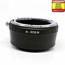 Anillo adaptador lentes Nikon a Canon EOS M M10 M6 M5 M3