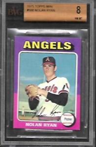 1975 Topps Mini #500 Nolan Ryan Angels With 3 8.5 Sub Grades NM/MT BVG 8