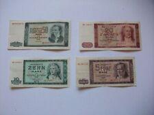 DDR 4 x Geldscheine 5-50 Mark 1964 Original mit Wasserzeichen Ostalgie Sammlung
