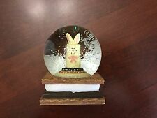 The Orginal S'mores Large Water Globe Snow Easter Rabbit Bunny, mz