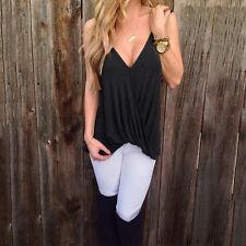 Plus Summer Boho Off Shoulder Crop Tops Vest Womens Loose Casual T Shirt Blouse