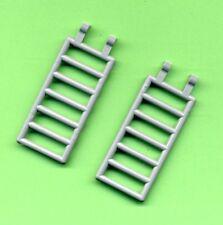 Lego--6020 --Zaun--Leiter-- Treppe-- 7 x 3--Mit 2 Clips--Grau/MDStone--2 Stück