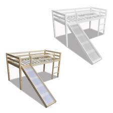 vidaXL Cama Alta para Niños con Tobogán y Escalera Madera Color Natural o Blanca